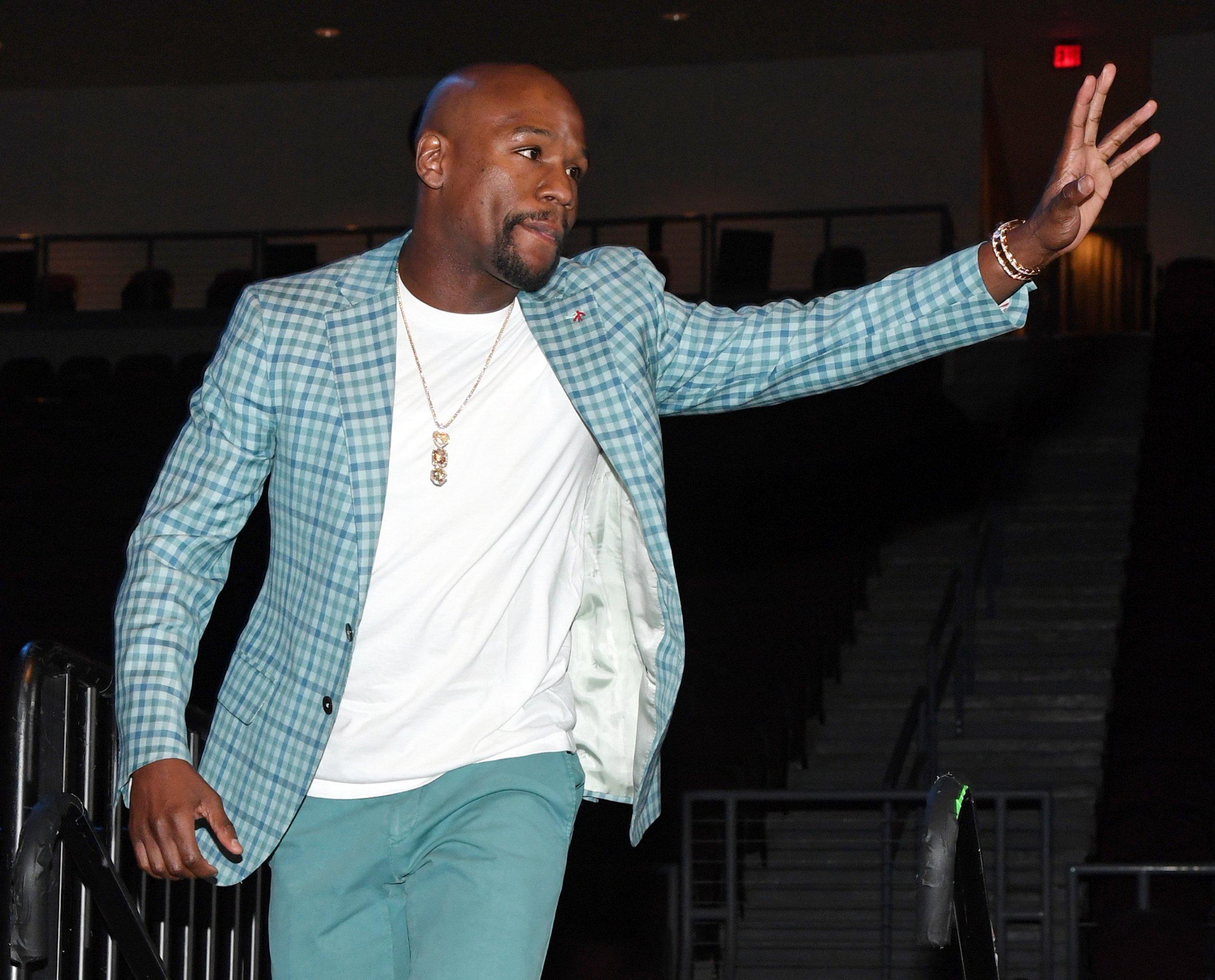 Boxer Floyd Mayweather, Jr, in Las Vegas, Nevada, June 2.