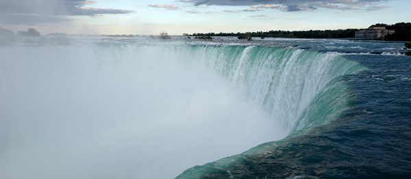 Erendira Wallenda, wife of daredevil Nik Wallenda, attempts to fly across Niagara falls by her teeth