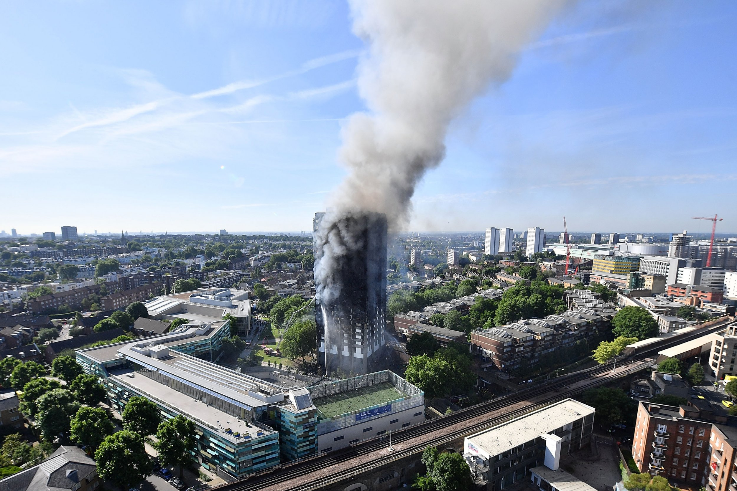 London fire smoke