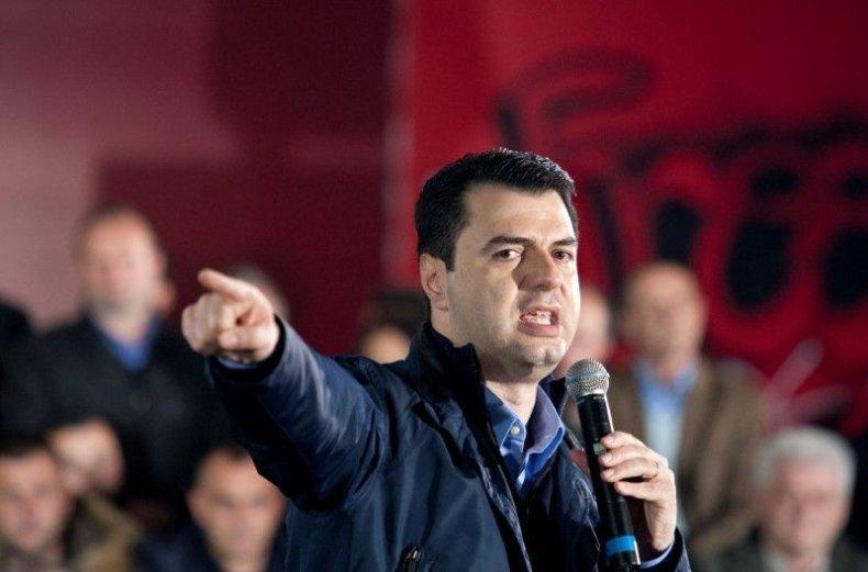 Albania's opposition Democratic Party leader Lulzim Basha