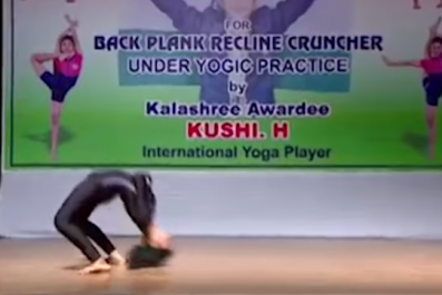 13 year old sets yoga world record in Mysore