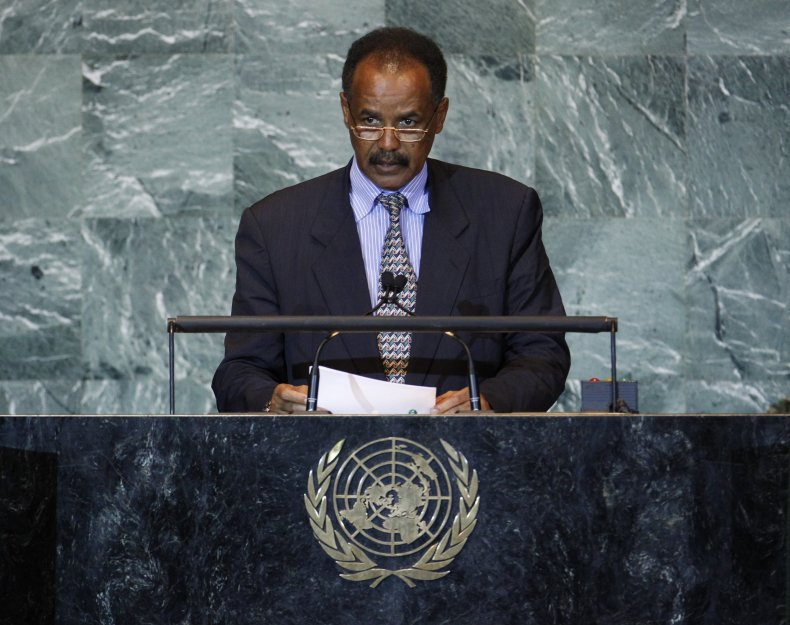 Eritrea president at U.N.