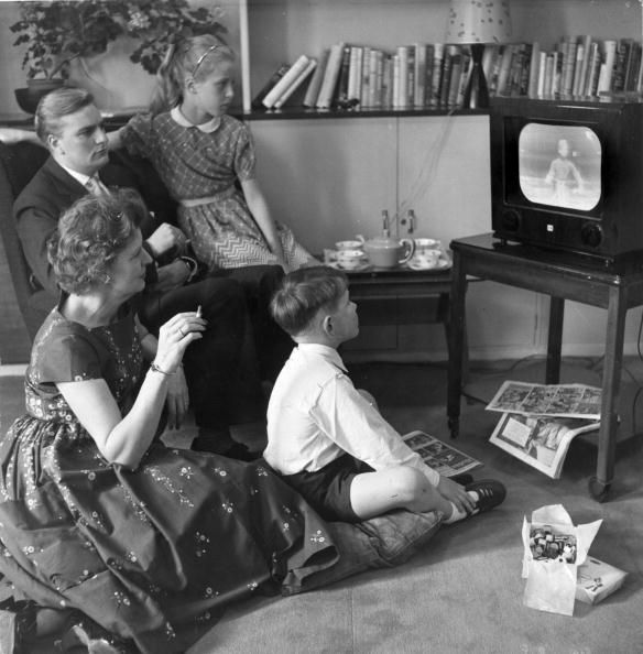 6-16-17 Family watching TV