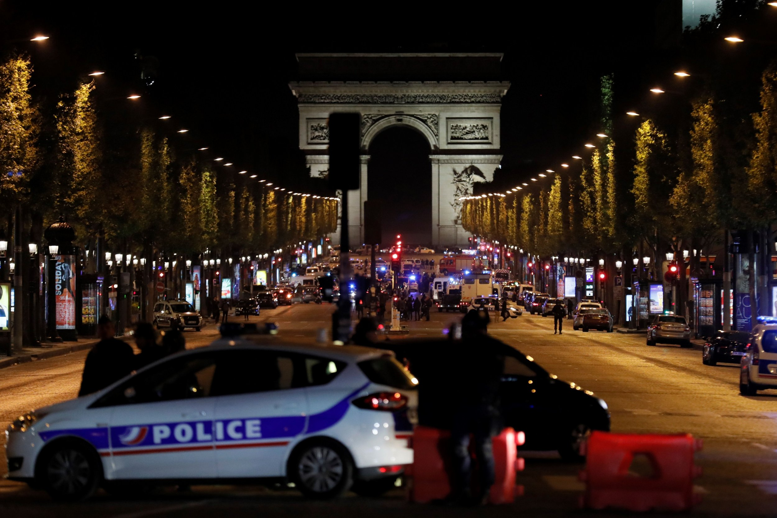 Paris Suspected Attacker Downed On Champs Elys Es After