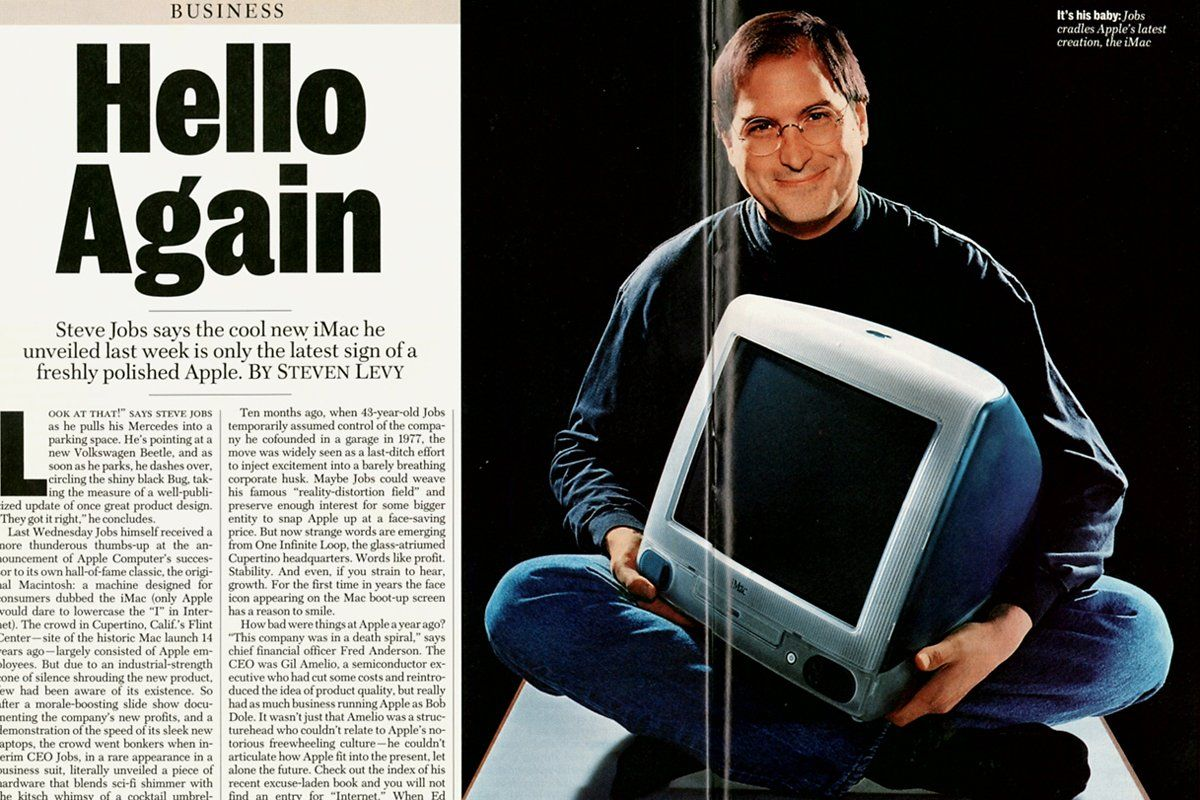 Steve Jobs introduces the iMac - 1998