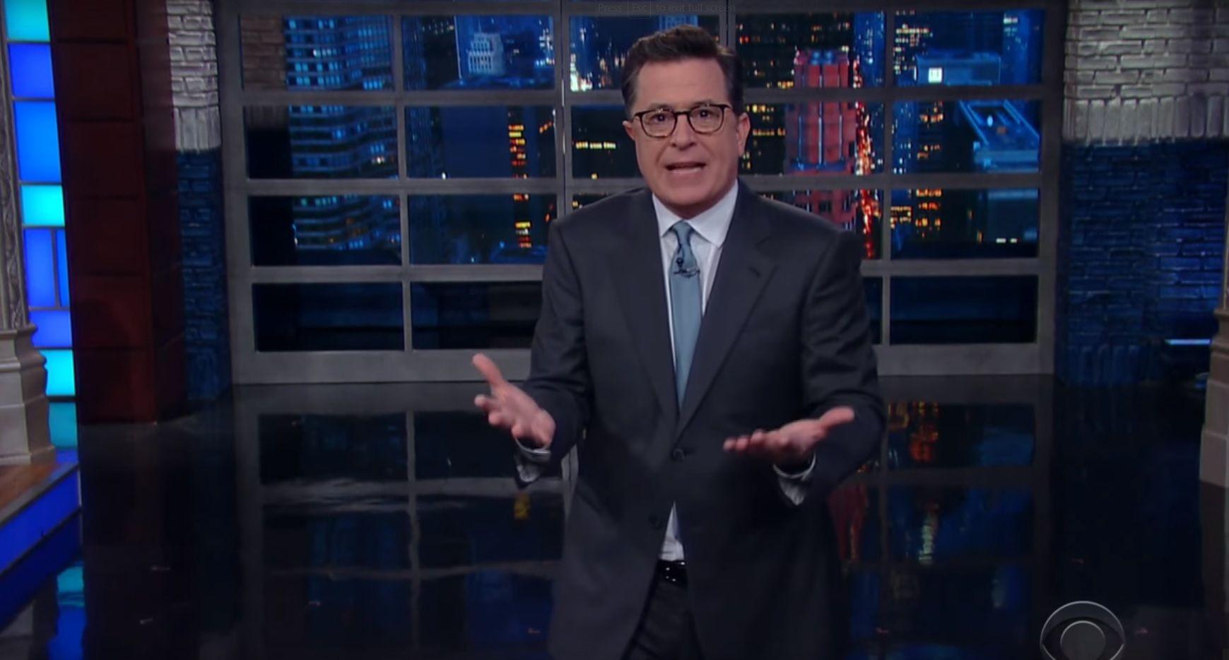 Stephen Colbert talks Trump investigation