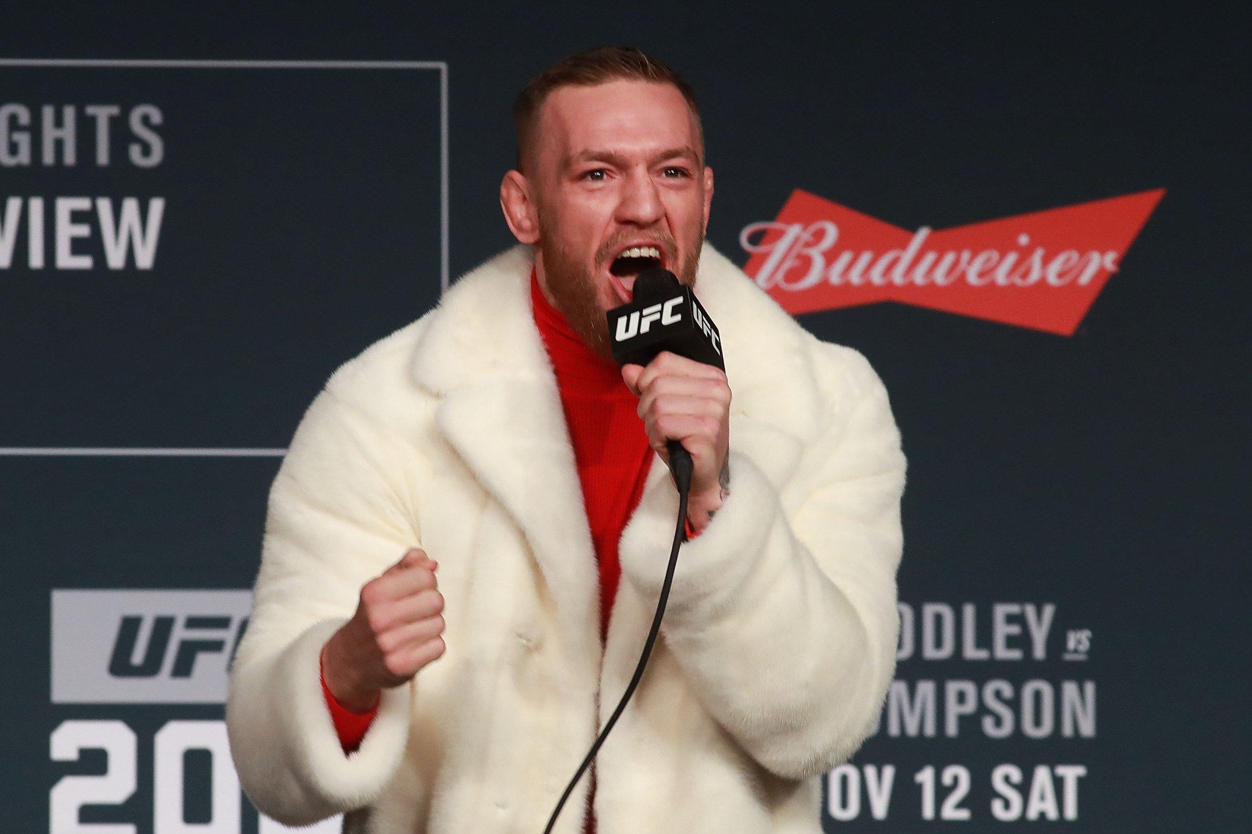 UFC lightweight champion Conor McGregor.