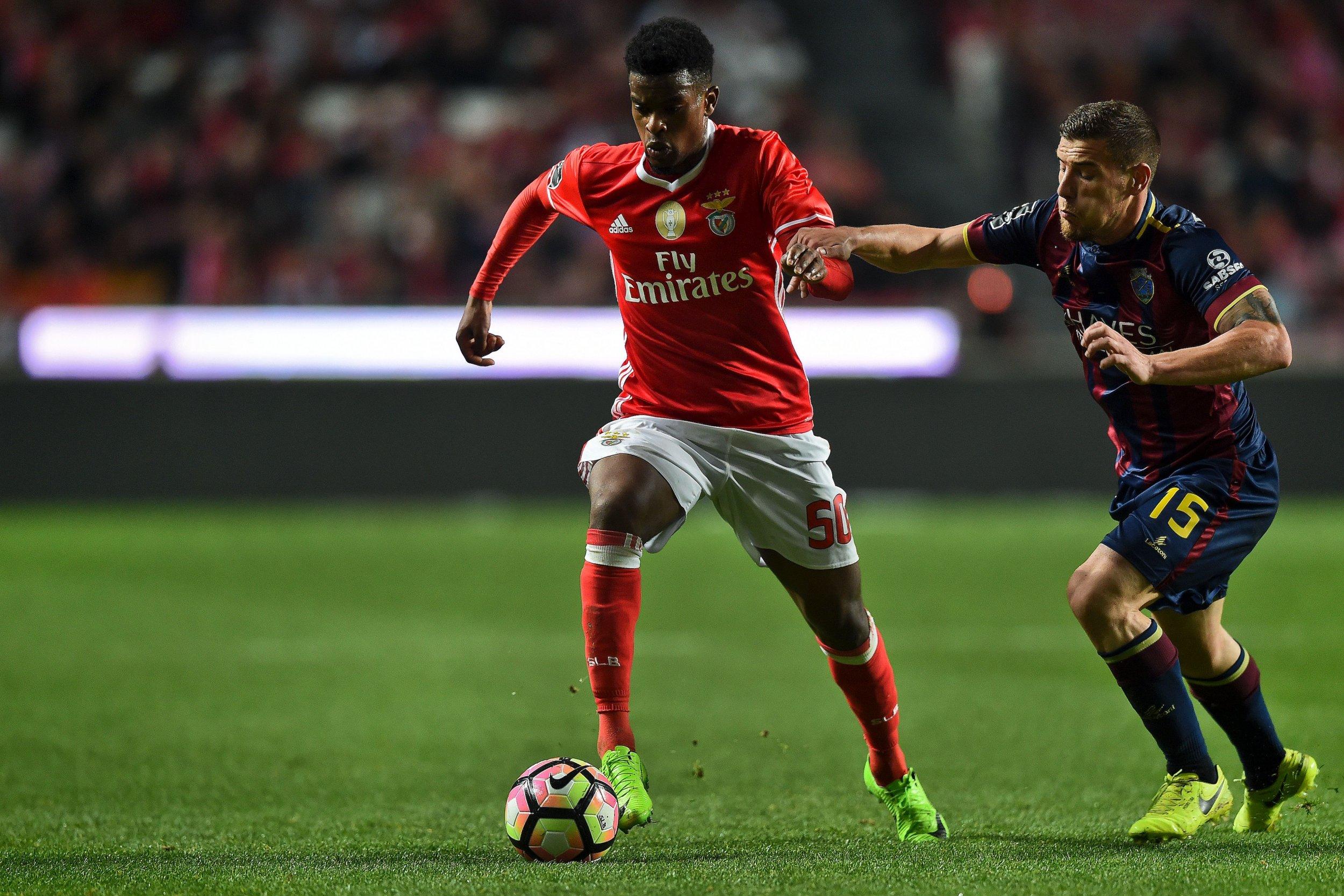 Benfica defender Nelson Semedo, left.