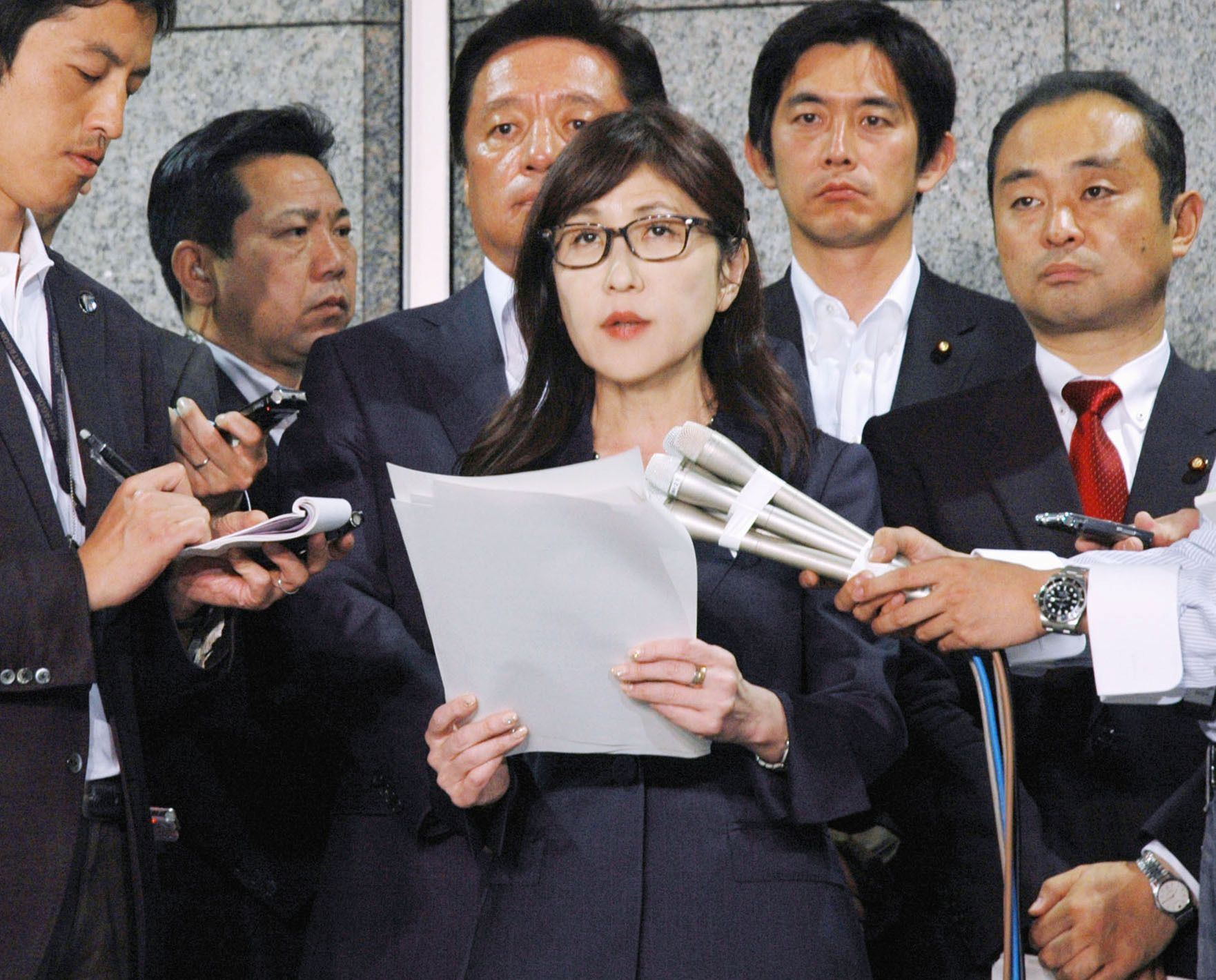 Japan's Defense Minister Tomomi Inada after North Korean missile launch