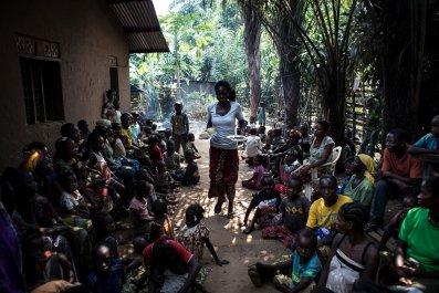 Congo IDP camp