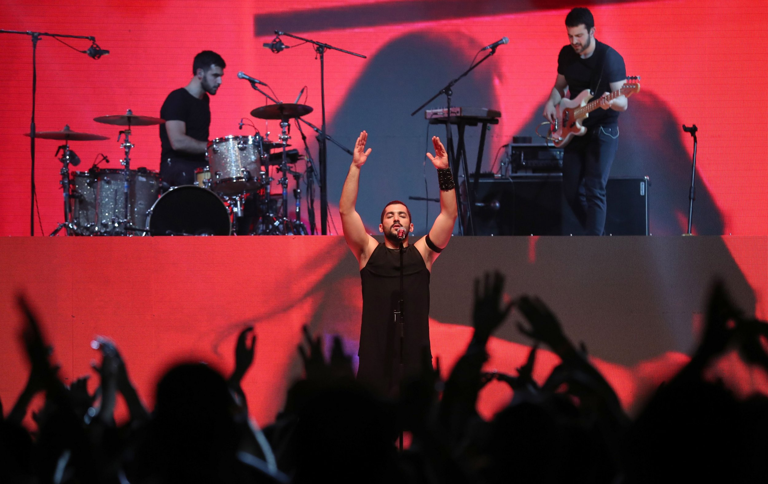 Hamed Sinno of Mashrou' Leila, band banned in Jordan