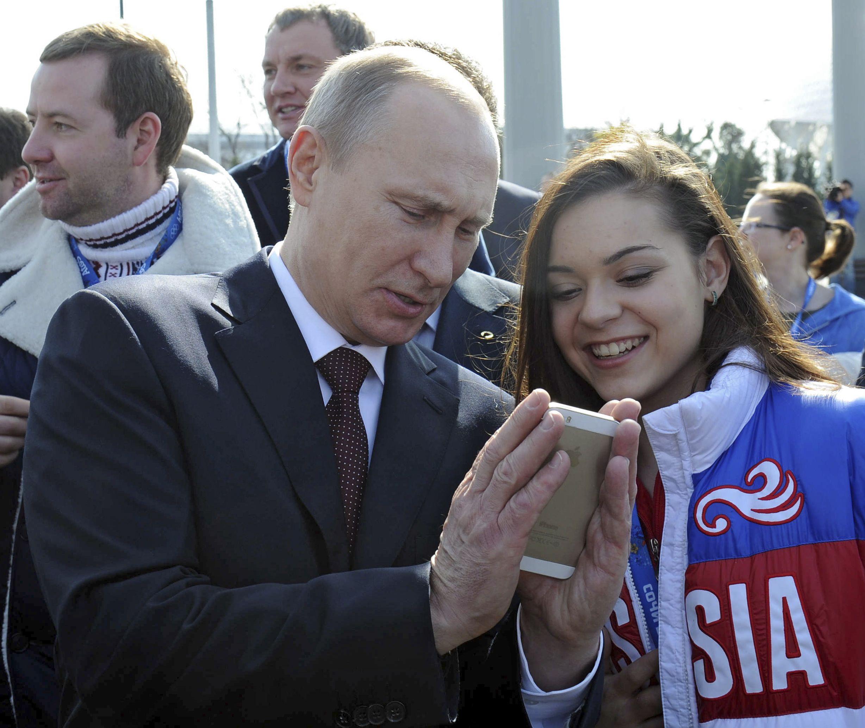 Putin on cell phone