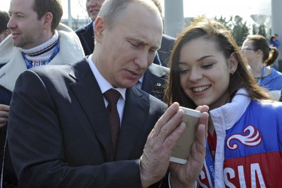 Putin on cell phone