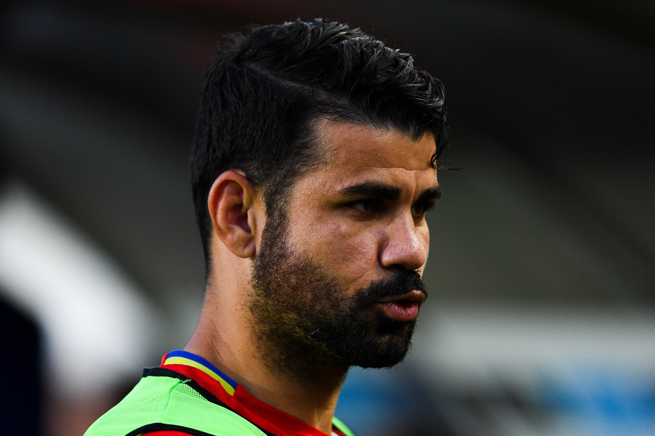Diego Costa of Spain and Chelsea at La Nueva Condomina stadium, Murcia, June 7.