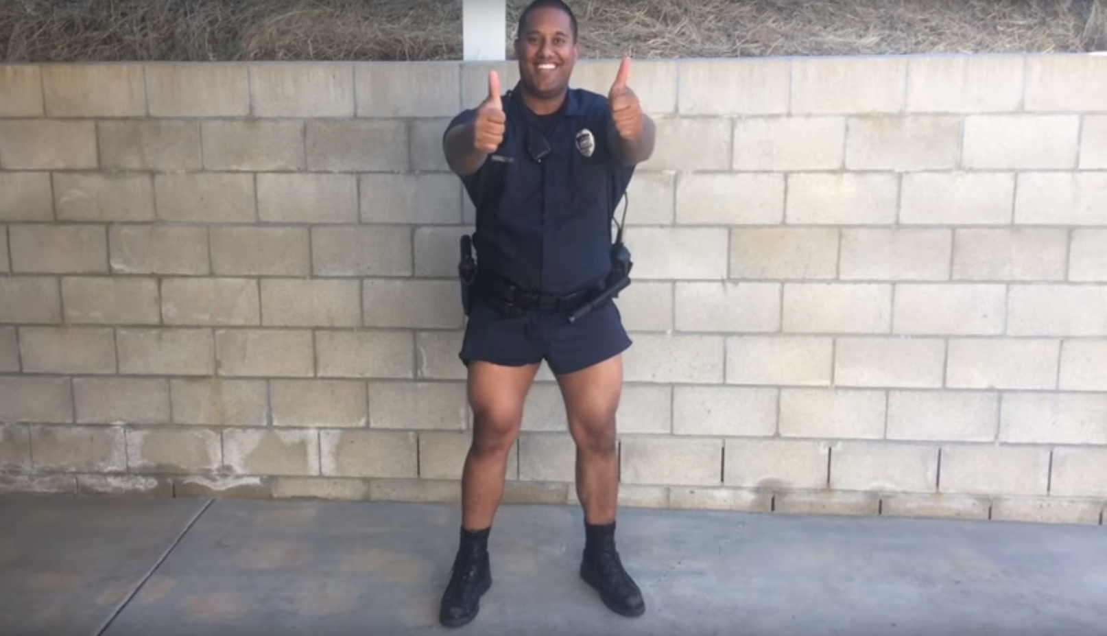 0f360dfe905 A parody video shows a police officer showing off the