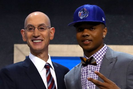 NBA Draft 2017 number one pick Markelle Fultz, right.