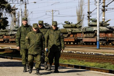 russian soldiers Crimea