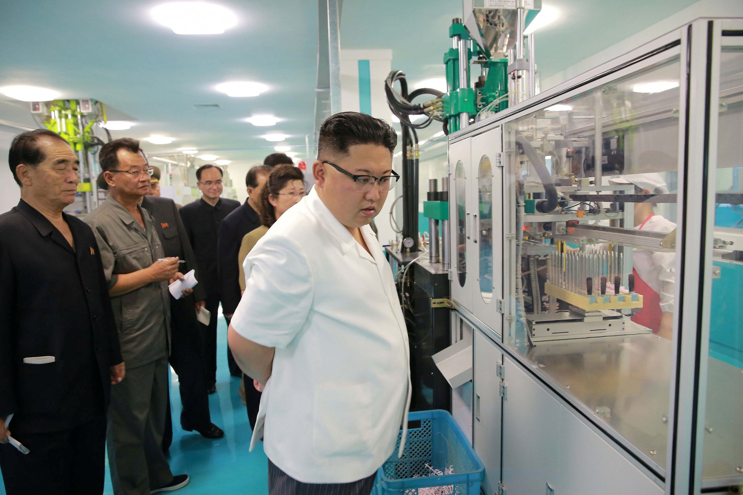 Kim Jong Un visiting factory
