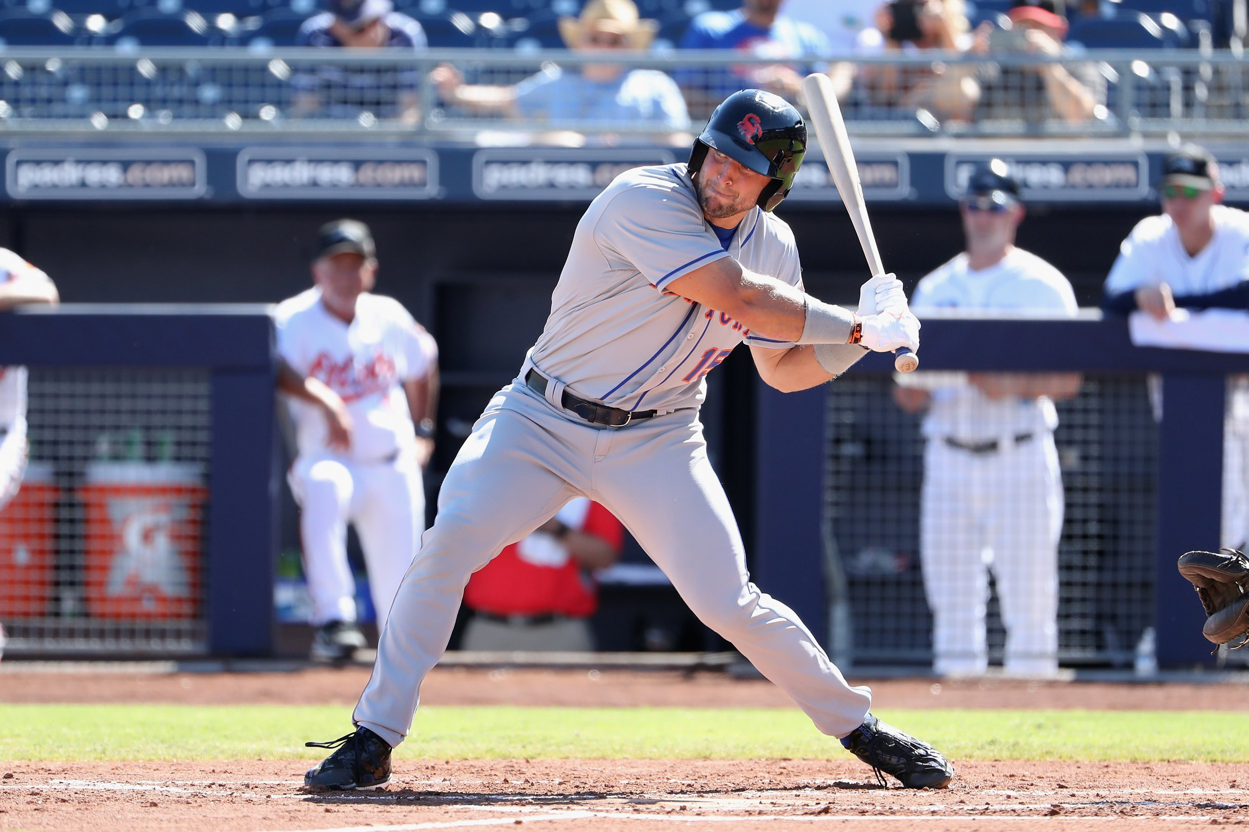 Tim Tebow of the St. Lucie Mets.