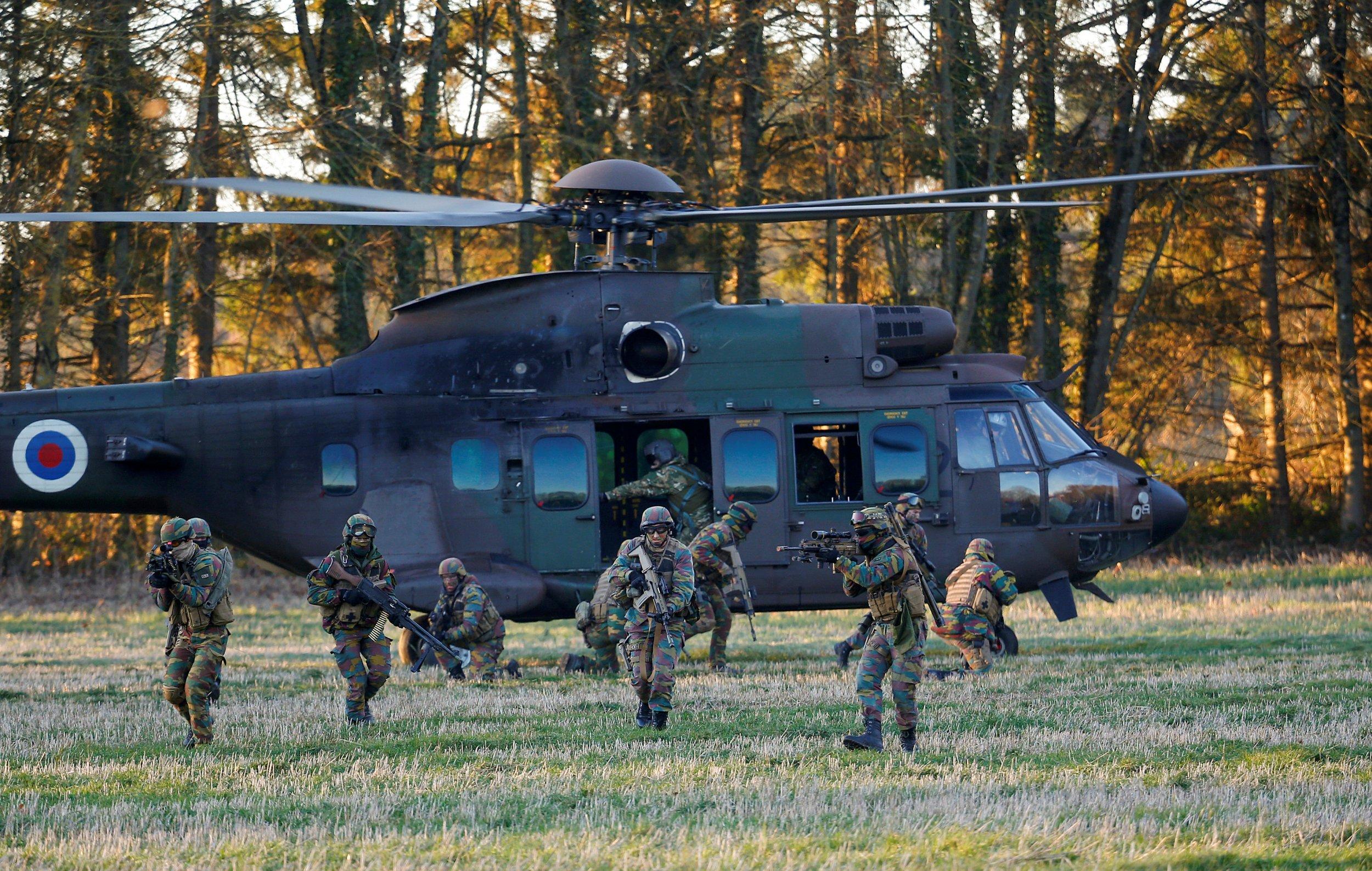 Belgian troops
