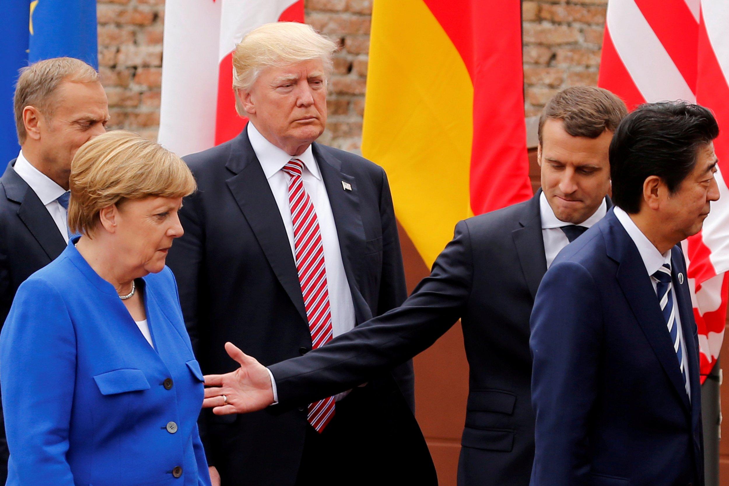 Trump, Merkel, Macron, Abe