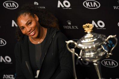 Serena Williams in Melbourne, Australia, January 28.