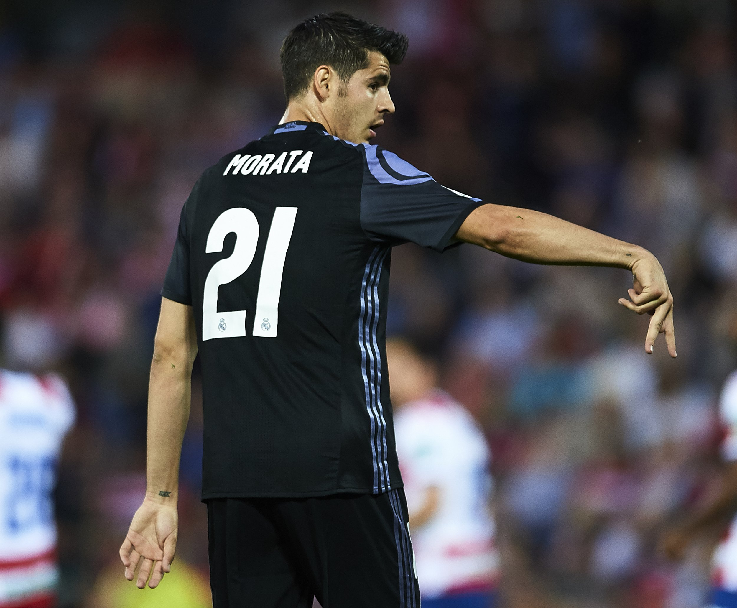 Real Madrid striker Alvaro Morata.