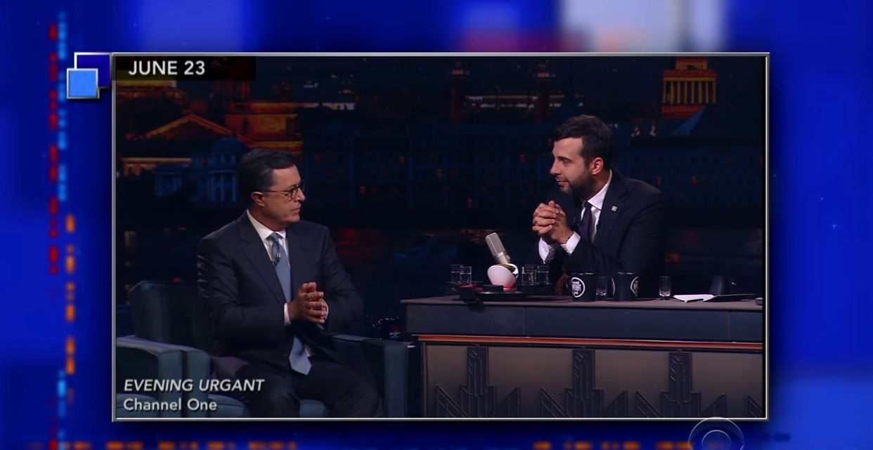 Stephen Colbert on Russia's Evening Urgant