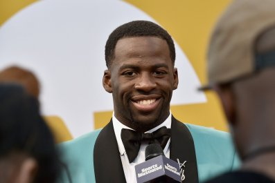 Draymond Green of the Golden State Warriors at the 2017 NBA Awards.