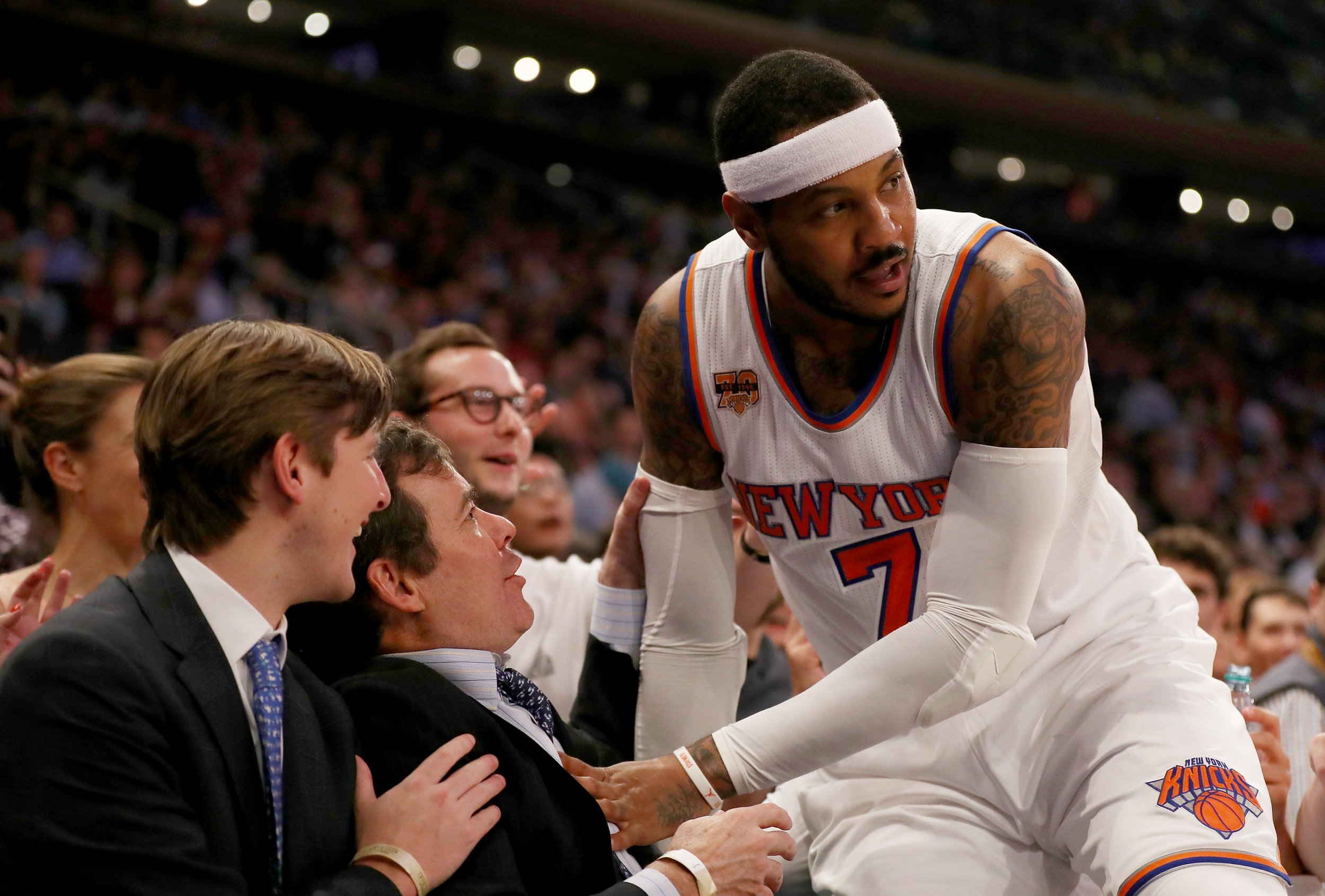 New York Knicks small forward Carmelo Anthony.