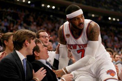 New York Knicks small forward Carmelo Anthony.