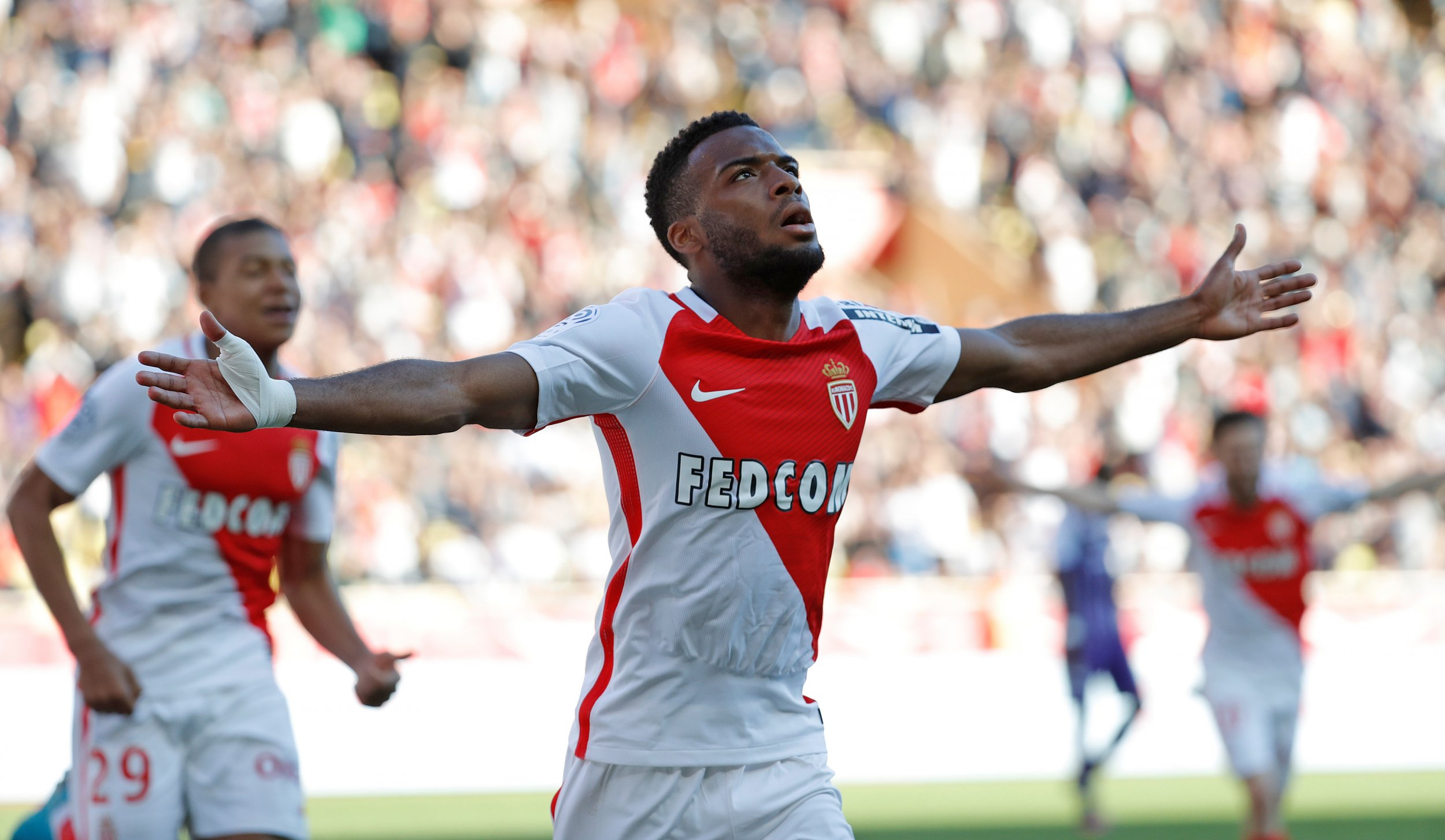 Monaco's Thomas Lemar at Stade Louis II, Monaco, April 29.