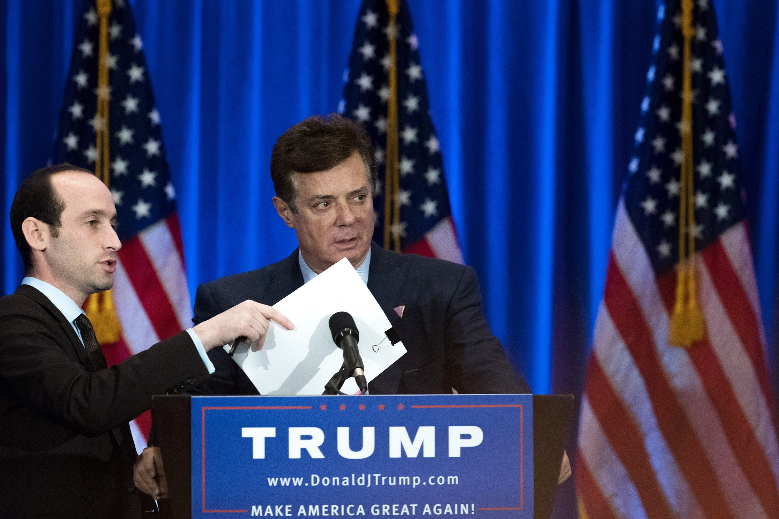 Manafort at Trump campaign speech