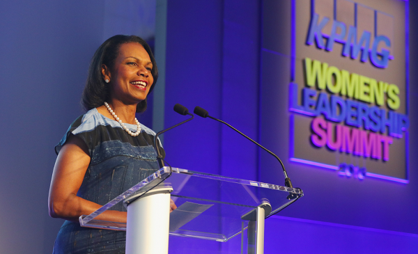 Condoleeza Rice says Trump stands for American values