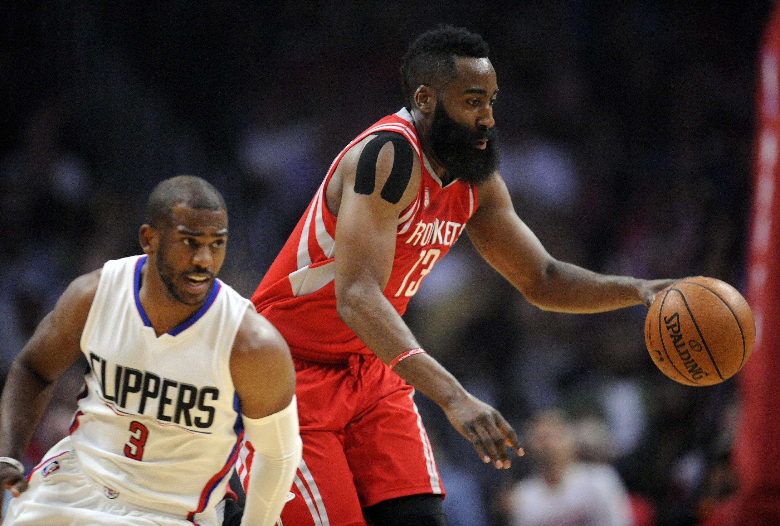 8fe69affa06d Houston Rockets guard James Harden now has guard Chris Paul
