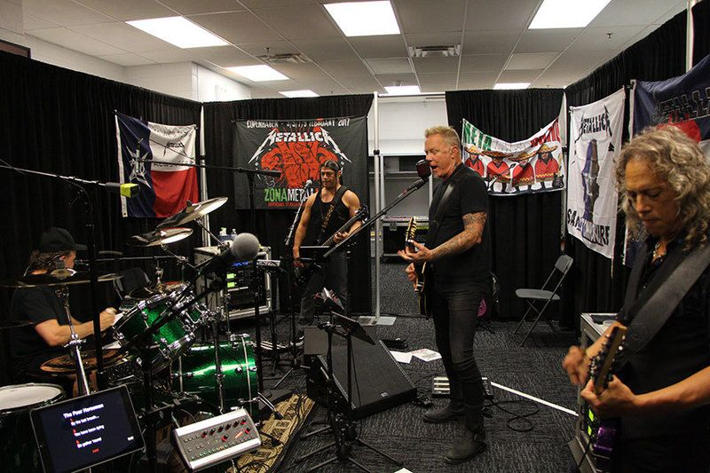 metallica rehearsal in chicago June 18