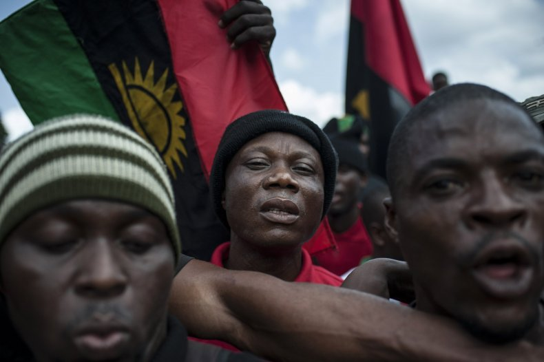 Biafra demonstrators