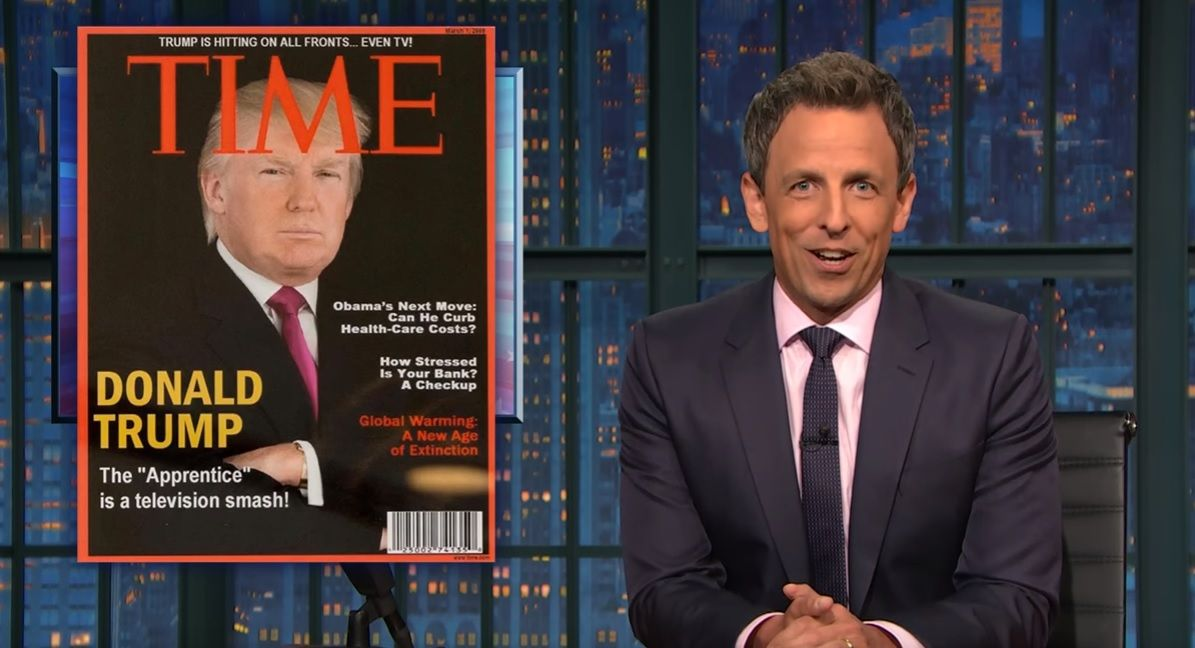 Seth Meyers mocks Trump's fake Time cover