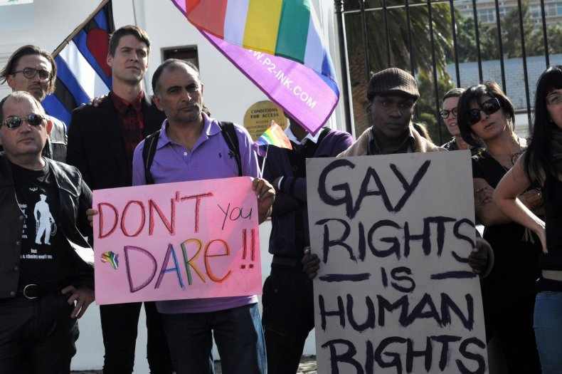 Gay rights protesters Cape Town