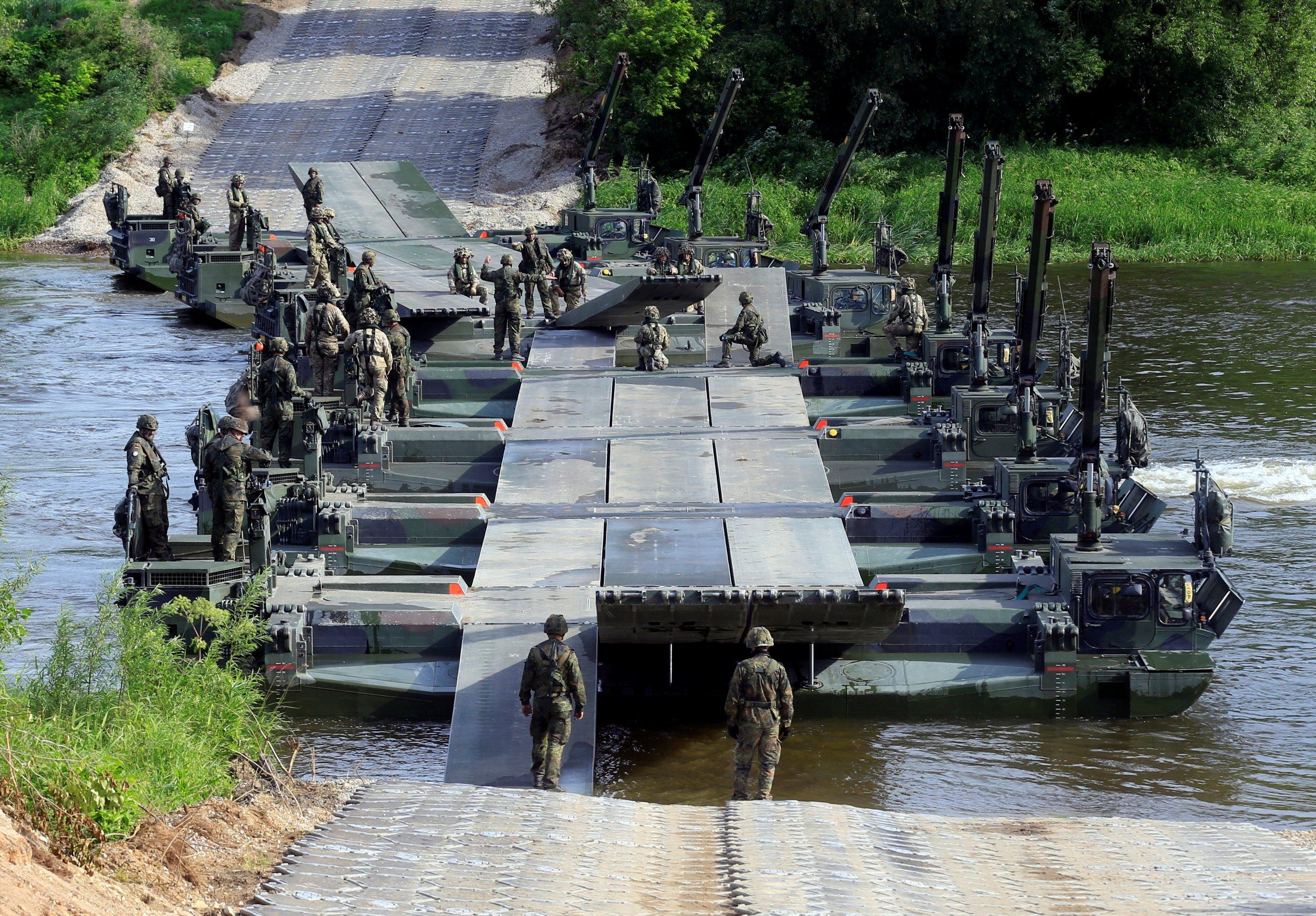 German military bridge