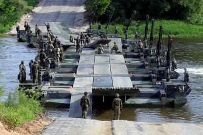 German military bridge