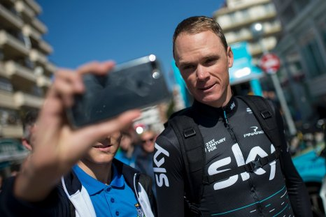 Team Sky's British rider Chris Froome in Calella, Spain, March 20.