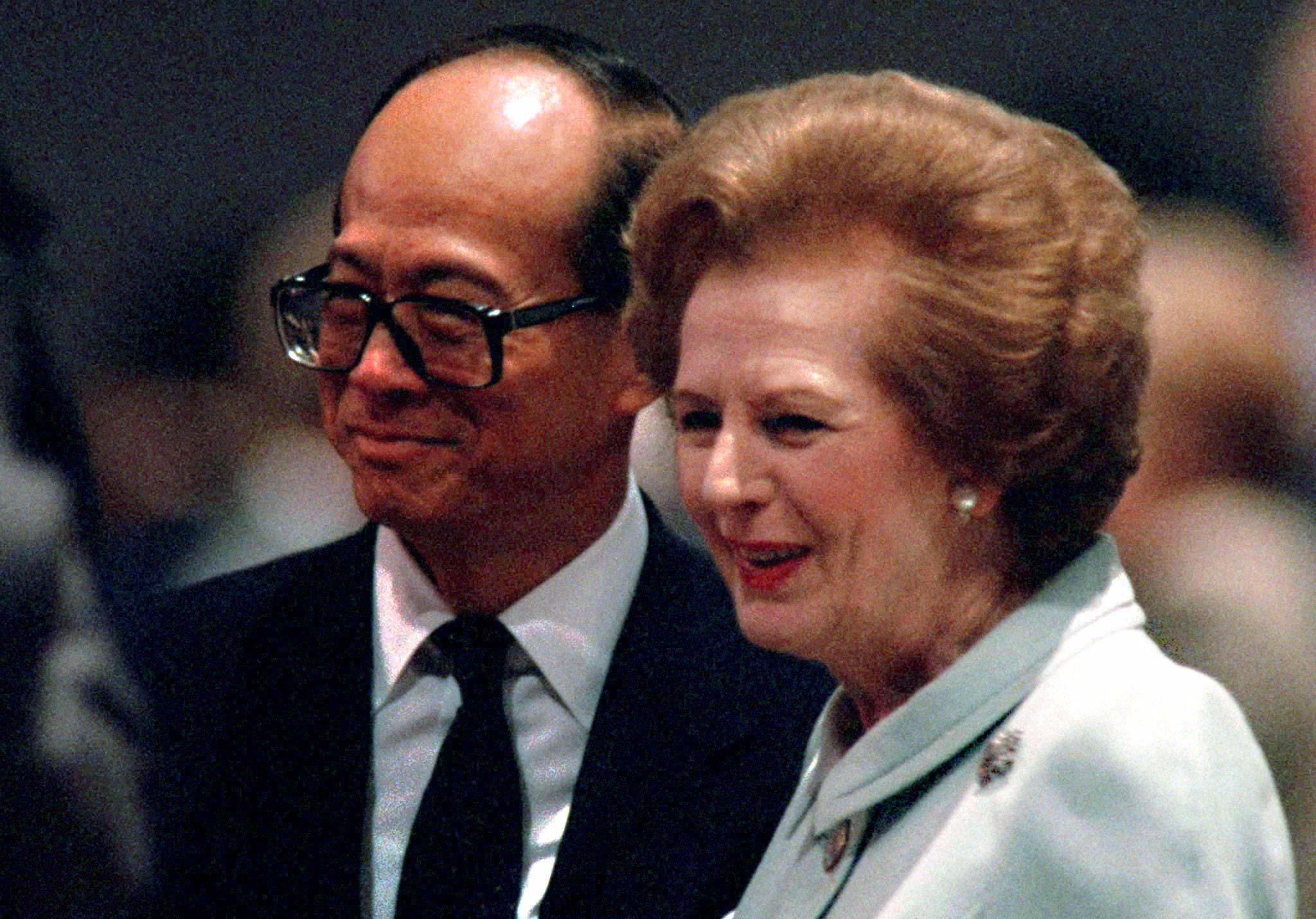Li Ka-shing and Margaret Thatcher