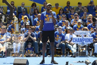 Golden State Warriors' NBA Finals MVP Kevin Durant.