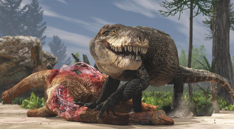 Giant ancient crocodile artist's impression