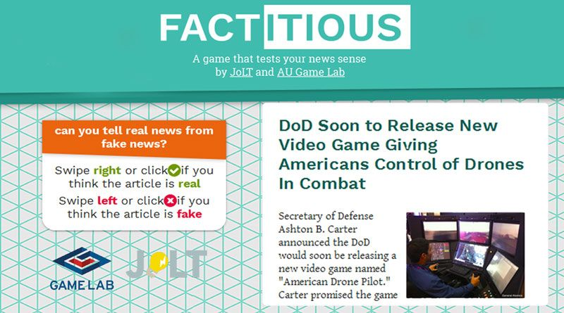 Factitious - the fake news game