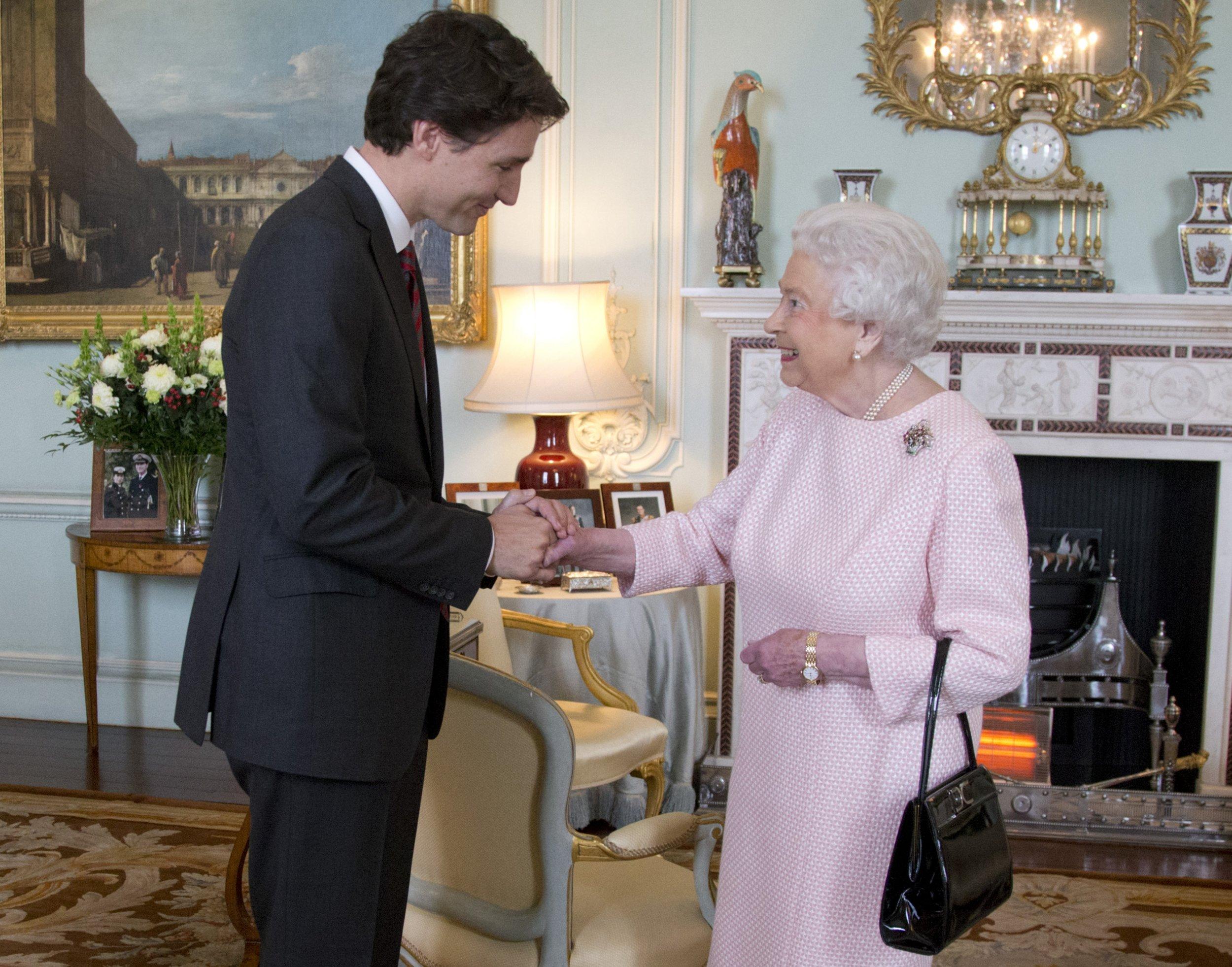 Queen Justin Trudeau