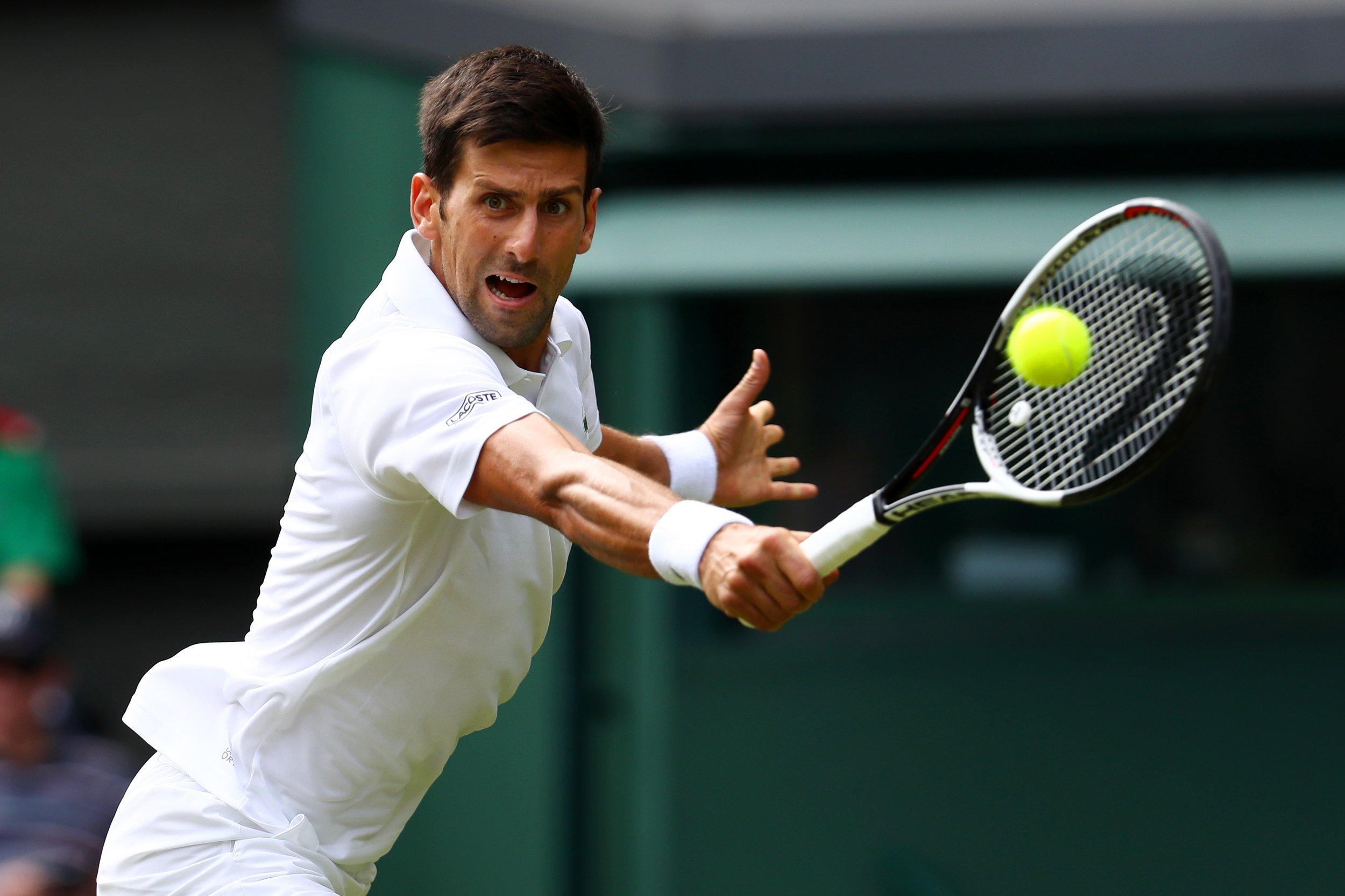 World number four tennis player Novak Djokovic.