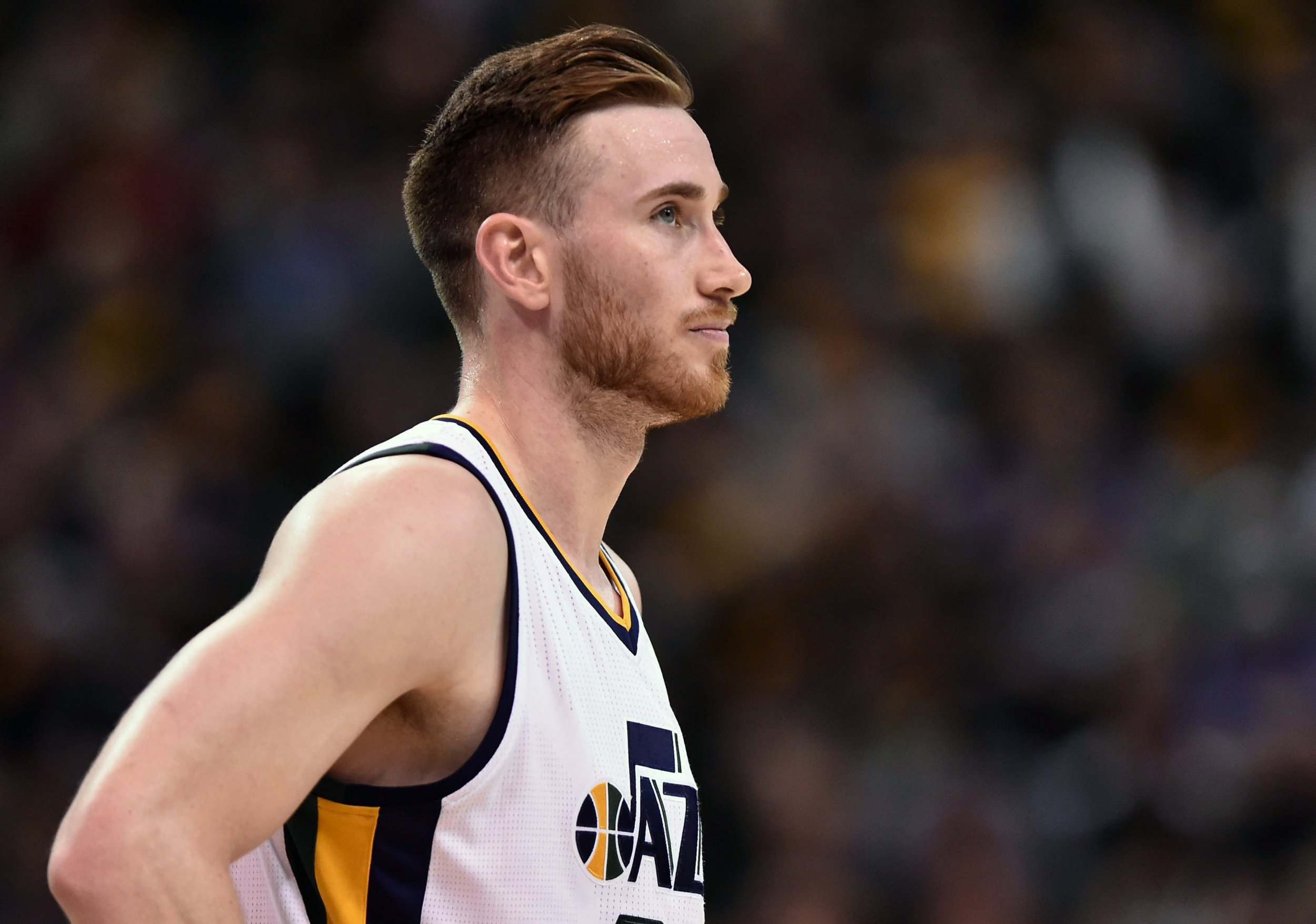 Gordon Hayward of the Utah Jazz at Vivint Smart Home Arena, Salt Lake City, May 8.