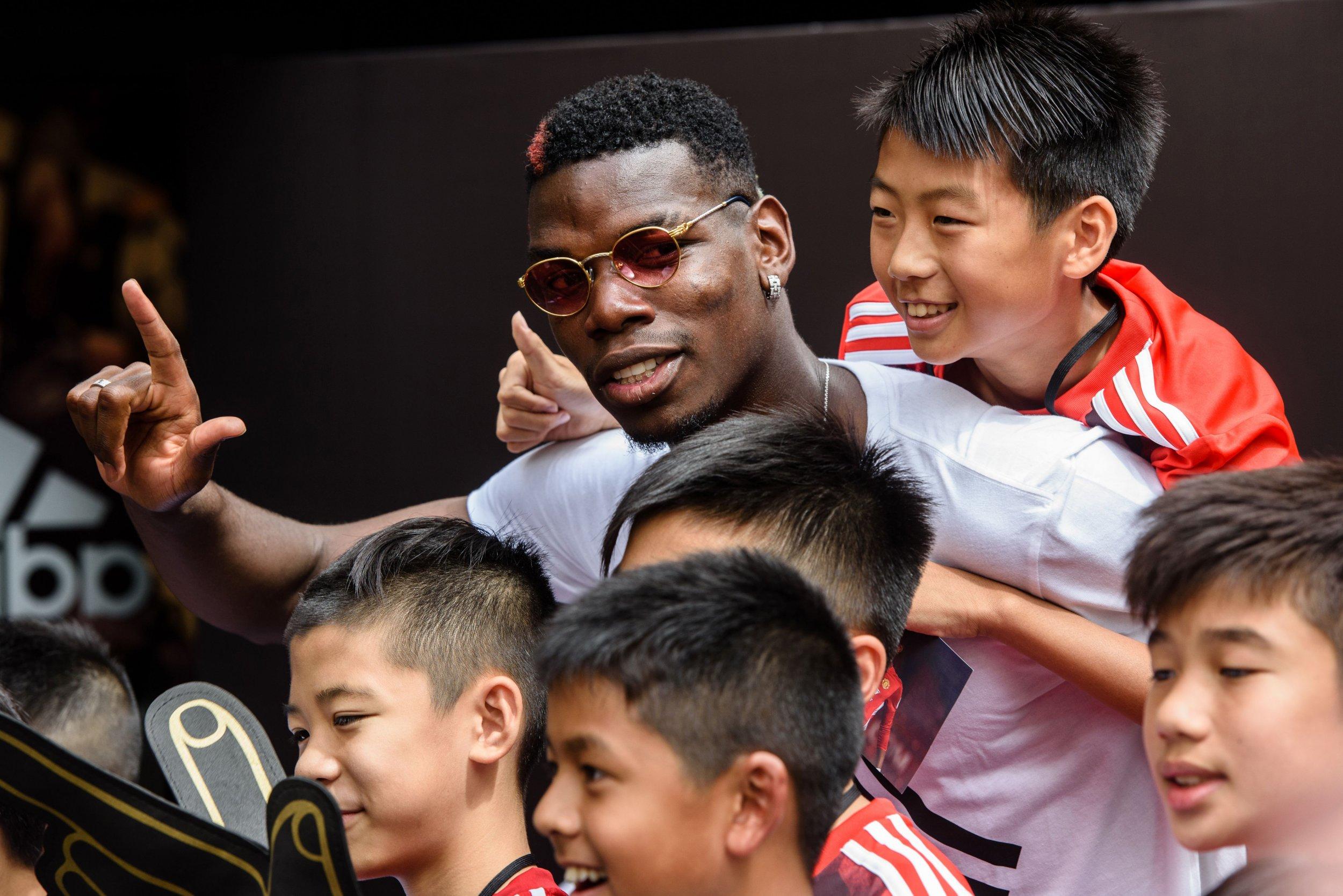 Manchester United midfielder Paul Pogba in